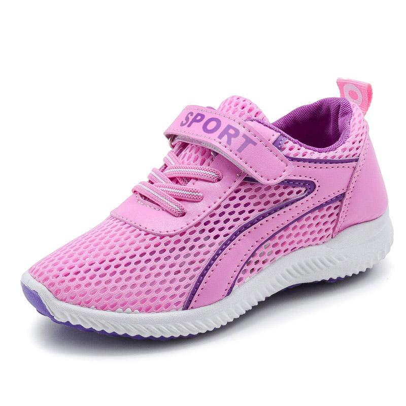 女童 鞋2017春秋 女童鞋跑步鞋 鞋兒童男童透氣網麵網鞋