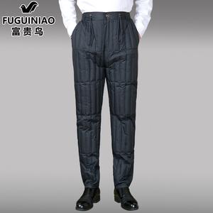 富贵鸟羽绒裤男内胆中老年男装内外穿宽松加厚羽绒棉裤大码爸爸装