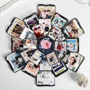 网红爆炸盒子diy手工相册创意照片定制惊喜抖音生日礼物制作纪念品牌
