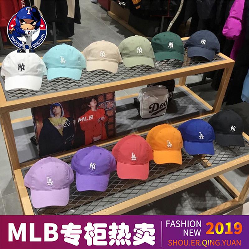 韩国MLB棒球帽男小标正品2019新款女软顶潮鸭舌帽NY洋基队LA帽子