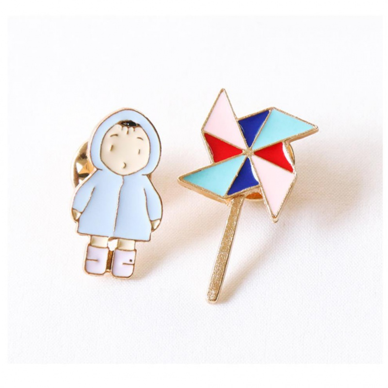 Brooch female ins Fashion Pin simple accessories personalized cartoon Japanese cute Trinket pin Xiao Zhan Badge