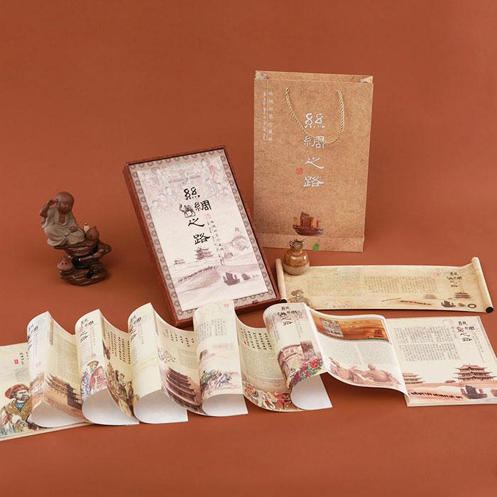 【西子糸坊】オリジナルデザインシルクの道のシルク切手秘蔵冊国礼文化創意プレゼント