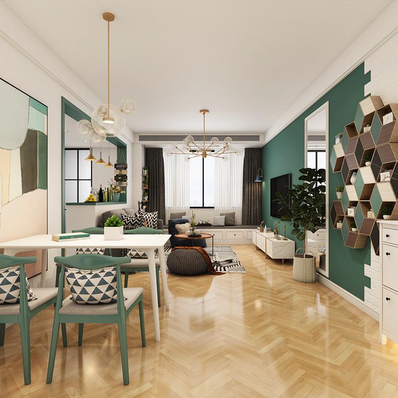 北京家装设计师室内家庭房子装修设计效果图北欧简约现代全屋图片