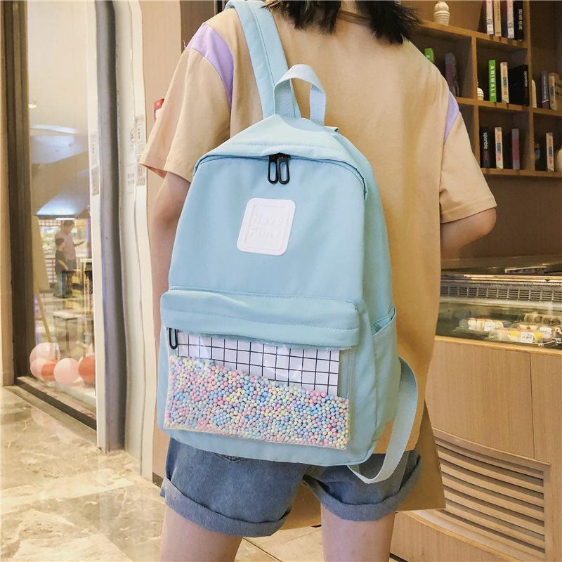 Ins style schoolbag female Korean version high school students simple Sen Department junior middle school students ancient sense campus backpack Backpack
