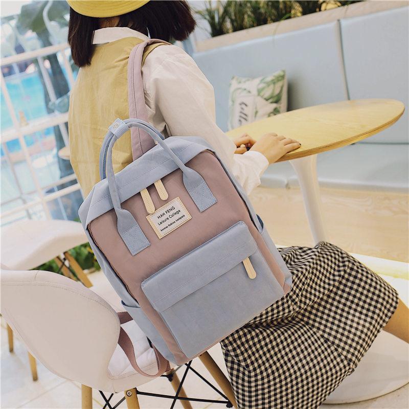 Schoolbag female Korean version of the original ulzzang high school students backpack Versatile Campus waterproof backpack 2018 NEW