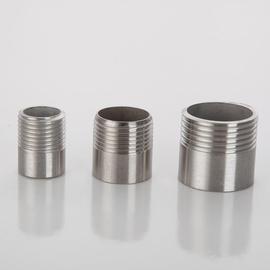热卖款304不锈钢单头丝无缝焊接短丝单头牙水管接头焊接外丝4分dn