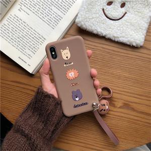 iPhoneXSmax手机壳苹果6S日韩国i7plus防摔i8PLUS可爱IPHONExr潮流i7plus萌头手带i11proMAX软套i8PLUS保护套