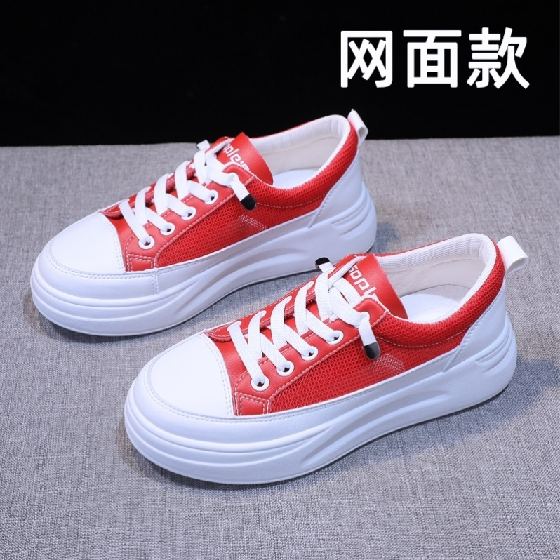 Students step on womens Harajuku fashion shoes single shoe mesh fashion sports shoes womens spring handsome solid color versatile