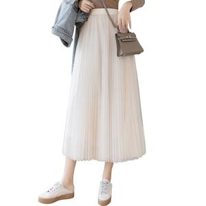 女秋装2021年新款中长款a字半身裙