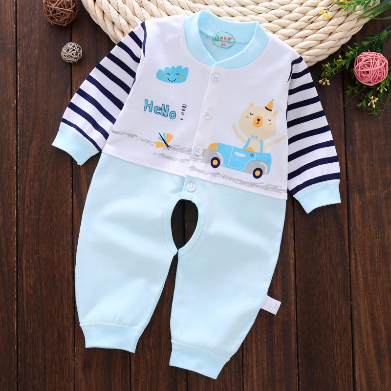 婴儿衣服春装连体衣新生儿贴身纯棉哈衣男女宝宝春秋打底内衣爬服