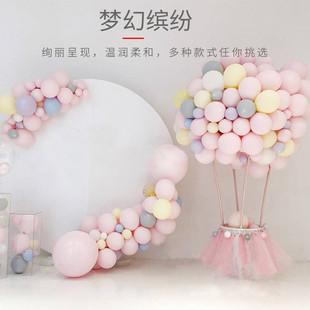 ins网红生日气球儿童生日装饰生日派对装饰马卡龙色气球场景布置
