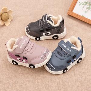 男宝宝0-1-3岁2软底学步鞋棉鞋