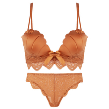 Passionate cat shell underwear women's suit sexy underwear small chest without steel ring bra thickening gathered close breast bra
