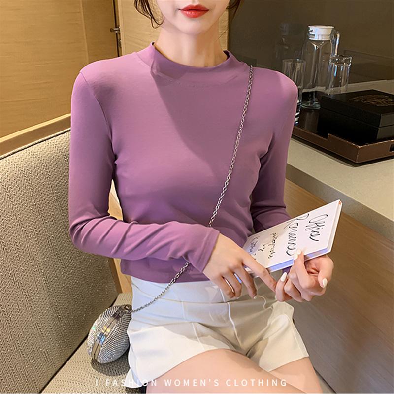 短款女秋长袖网红t恤ins打底衫29.00元包邮
