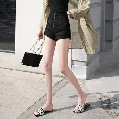 黑色牛仔短裤女高腰a字修身显瘦2020新款夏季薄款百搭外穿热裤潮