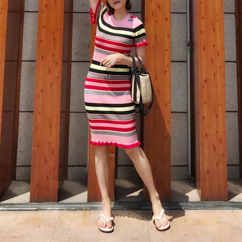 2017新款夏季紧身修身女连衣裙衣服无袖裙长款群包臀针织连体长裙