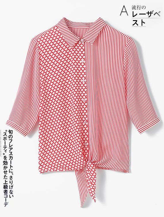 Hangzhou silk silk blouse womens short sleeve fashion stripe satin blouse foreign style new heavy mulberry silk shirt