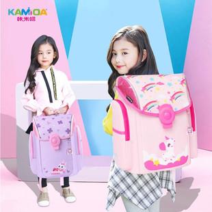 小學生書包韓版可愛女童1-3-5減負護脊超輕輕薄輕便磁扣雙肩揹包2