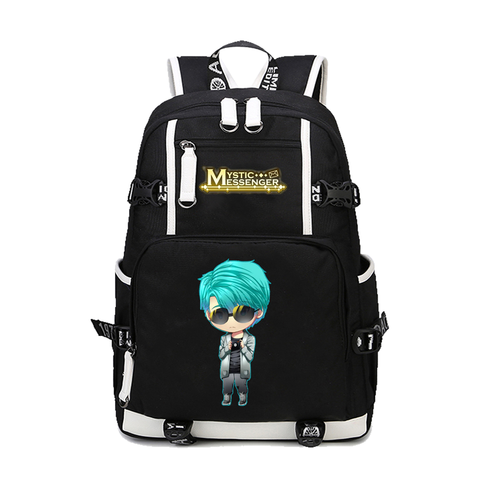 Mysterious messenger schoolbag animation backpack animation surrounding student schoolbag male and female student Backpack