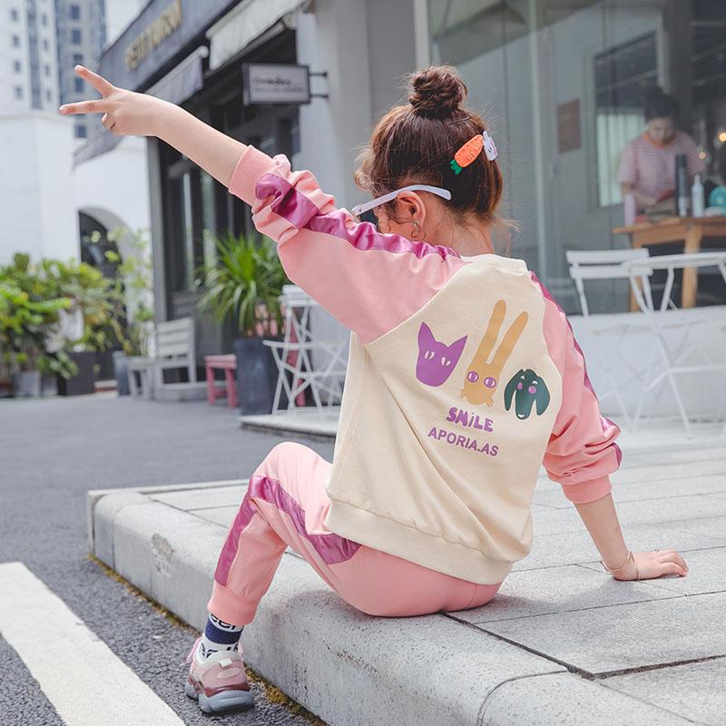 女童秋装套装2019新款网红洋气儿童运动两件套女孩休闲春秋童装潮
