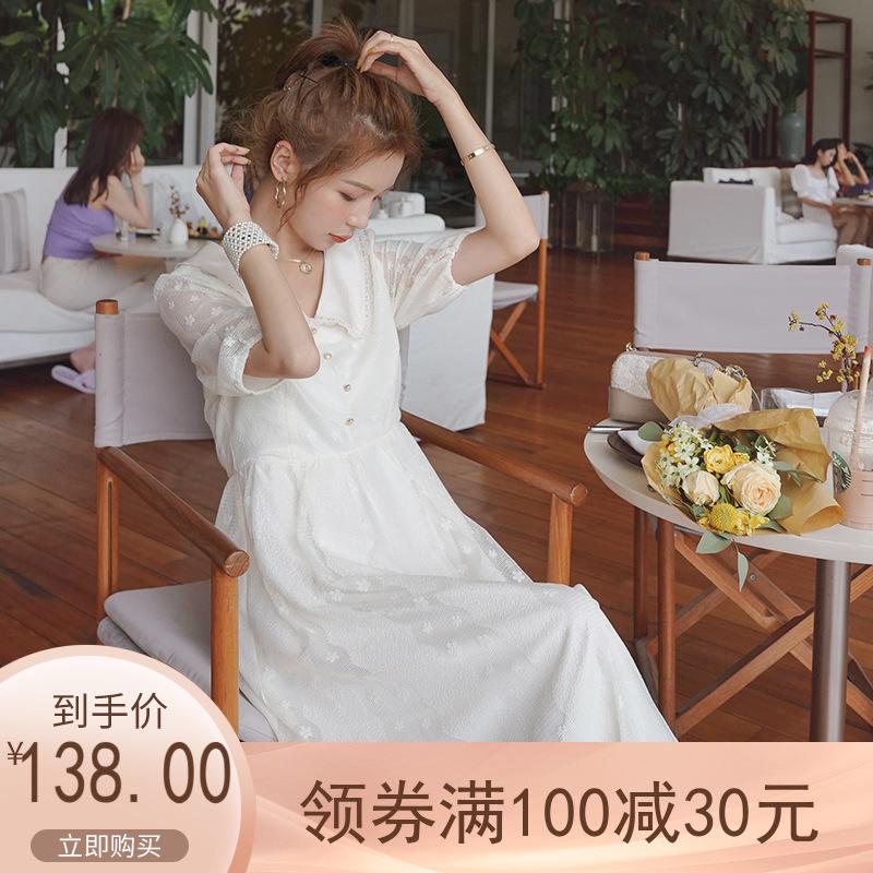 Lace new dress Princess Dress summer dress women 2020 summer dress white fashion trend womens temperament