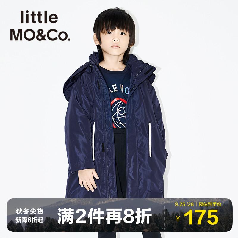 Little MO&CO. littlemoco童装秋冬装儿童厚款棉衣外套中长款男童夹棉夹克潮童
