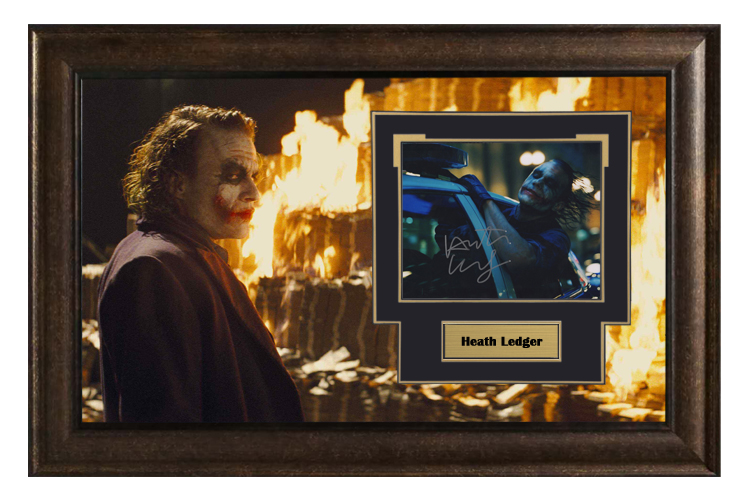 Collect the autographed photos of Heathcliff clown Dark Knight, framed with SA certificate