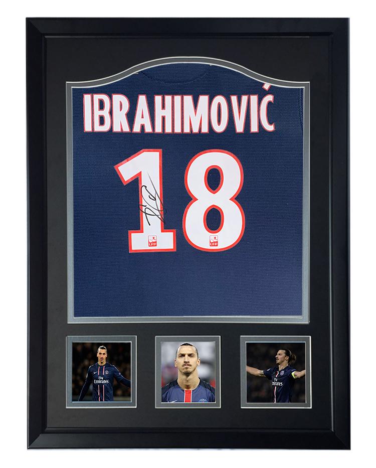 Paris Saint Germain Zlatan Ibrahimovic Autographed shirt with certificate