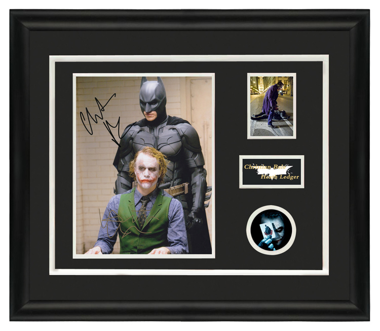 Batman Dark Knight Christian berheath ledger autographed photo with certificate framed