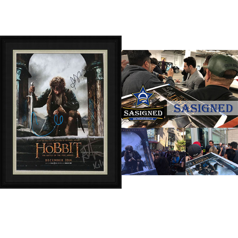 The Autographed Photograph of the Hobbit aidantanna Dickens Lipper with SA certificate SA proof