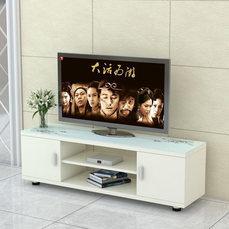 Телевизионный шкаф простой современный мебель закалённое стекло шкафы спальня мини легко небольшой квартира гостиная телевизор кабинет