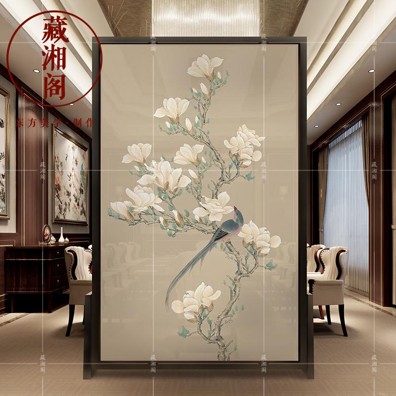 Сделанный на заказ китайский стиль экран отрезать гостиная вход современный мода дерево пирсинг сиденье экран классическая фэн-шуй спальня мобильный