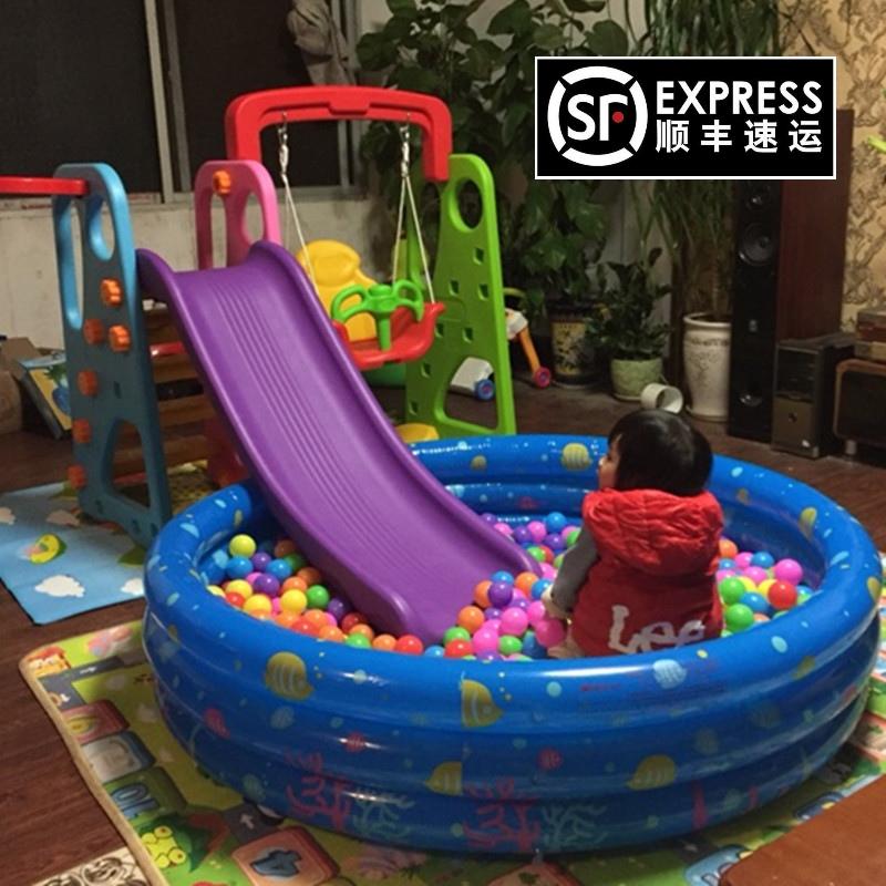 多功能室�韧�和�滑梯秋千�M合滑滑梯套�b家用����玩具加厚大滑梯