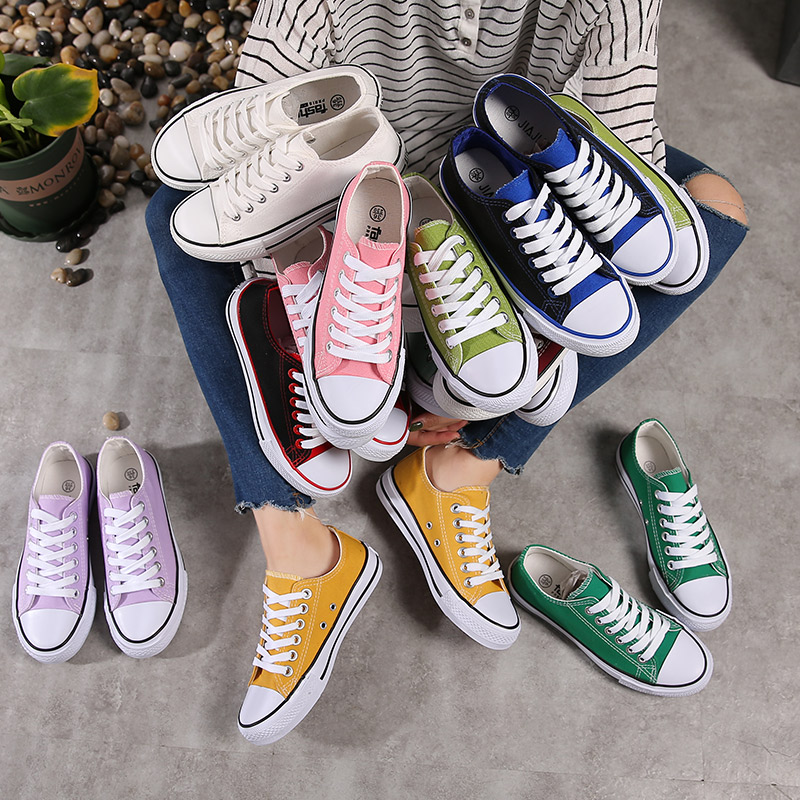 Spring 2018 new ins canvas shoes for female versatile students