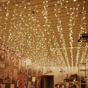 led星星灯小彩灯闪灯串灯满天星灯窗帘灯冰条灯瀑布灯挂灯装饰灯