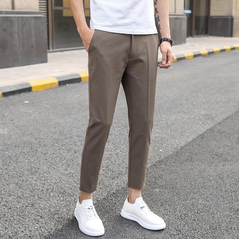 夏季垂感小西裤修身男士透气小脚裤质量靠谱吗
