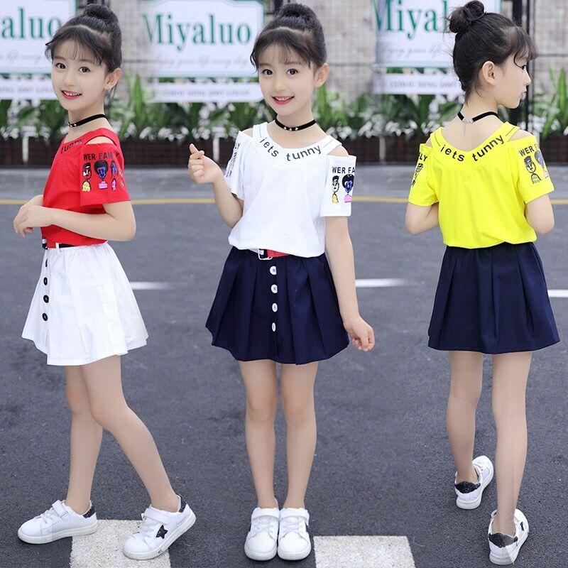 女童夏装2019新款套装12女孩10韩版时尚13中大童洋气夏季女装15岁