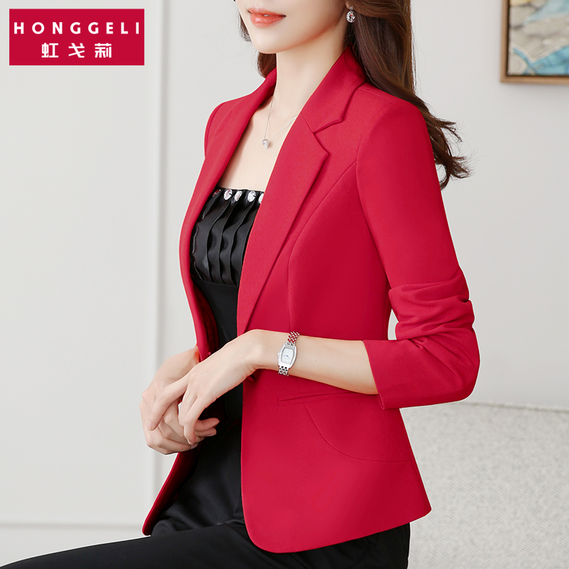 Ladies small suit jacket Slim small suit 2021 new female spring and autumn jacket short temperament casual white