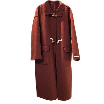中长款羊毛双面女2019冬新款呢大衣