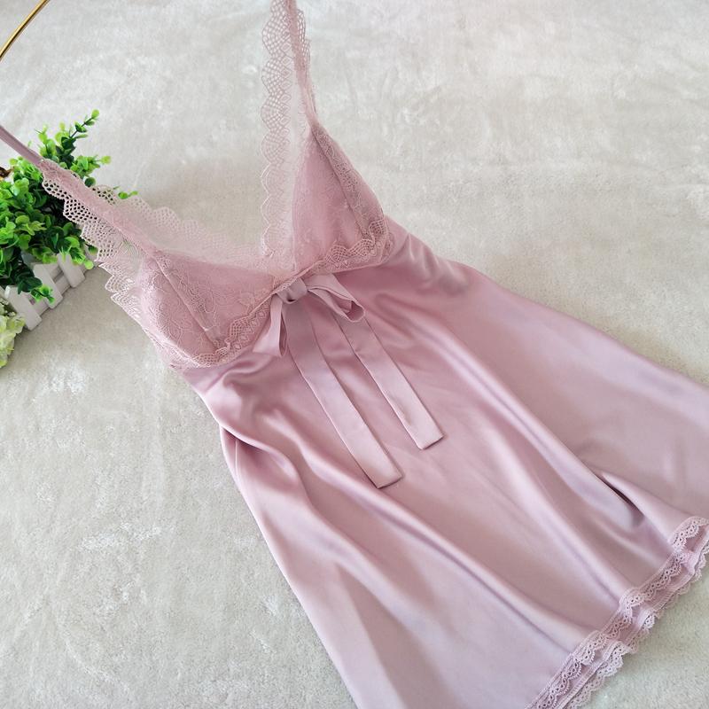 新品性感睡衣女冰丝绸家居服蕾丝花边吊带睡裙女夏季薄款情趣诱惑