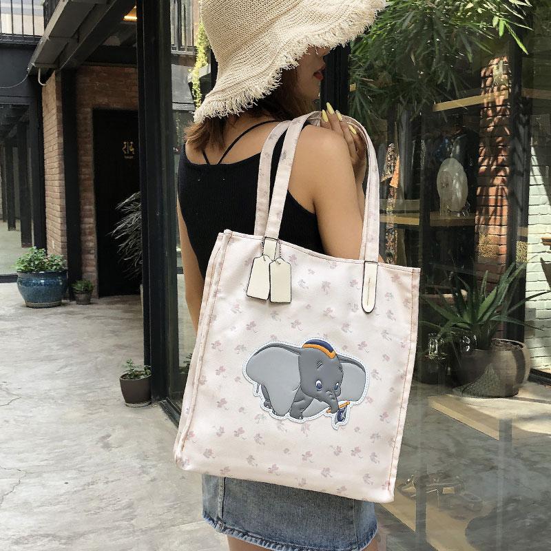 夏季包包女包2019新款小飞象帆布包大容量单肩包小清新手提购物袋券后39.90元