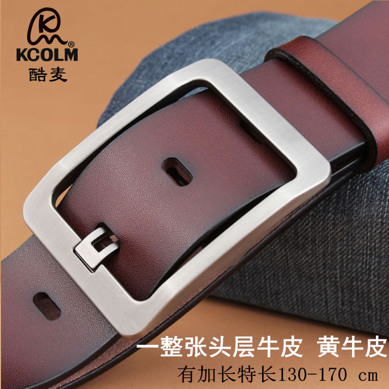 Mens belt leather belt leather belt for middle-aged and young peoples leather pants