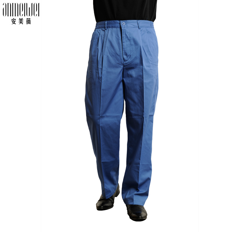 An Meiwei summer newspaper all cotton trousers mens work clothes trousers wear resistant labor protection trousers auto repair overalls