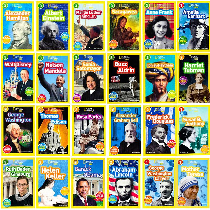 美国国家地理分级阅读读物 英文原版绘本 National Geographic Kids 人物传记系列24册合售 儿童全彩版 百科书 少儿英语课外读物