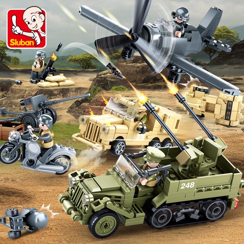 小鲁班世界大战Ⅱ北非战役系列0812套装儿童益智拼装积木玩具模型