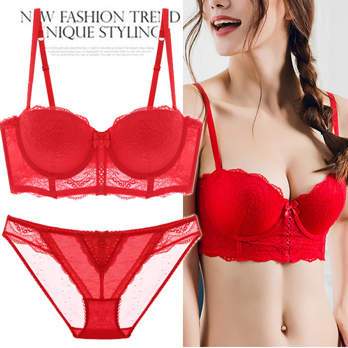 The secret of Victoria bra suit half cup collection and accessory breast adjustment