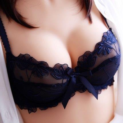 Victoria underwear womens sexy small chest thin large size ultra thin lace bra set with steel ring
