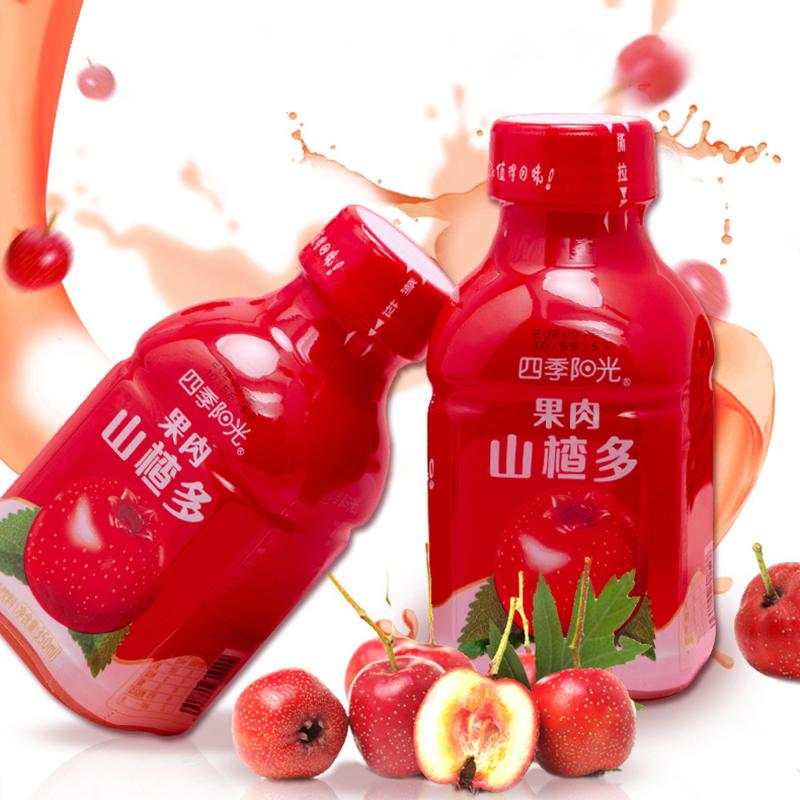 Fruit juice sour, sweet and delicious beverage Four Seasons Sunshine Food hawthorn juice 350ml * 6 bottles