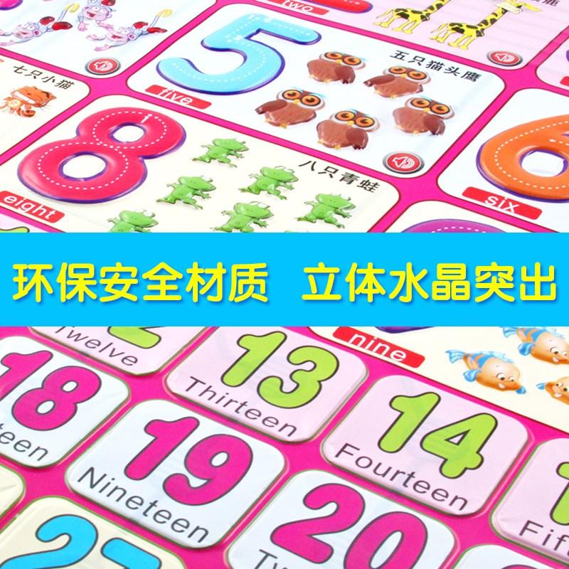 阔步宝宝早教有声挂图全套墙贴拼音婴儿童识字发声语音启蒙0-3岁