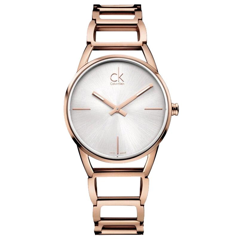 新款瑞士ck手表专柜正品女士女表镂空手镯表K3G23626全国联保